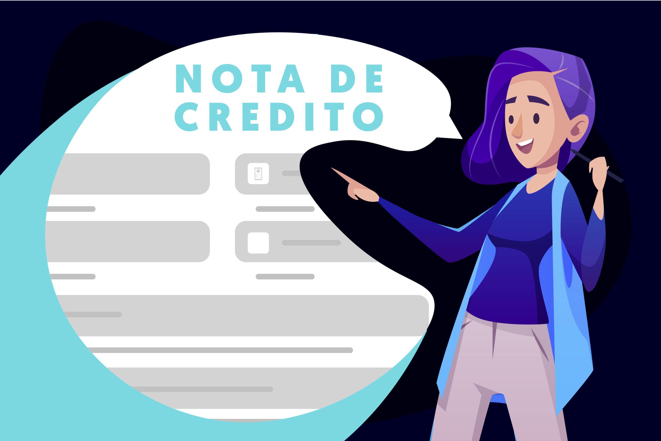 como hacer una nota de credito